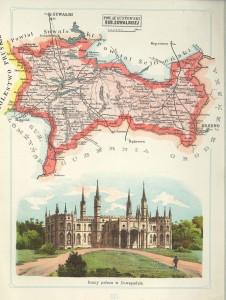 Mapa Powiatu Augustowskiego, ruiny