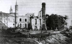 Ruiny, II poł XIX wieku, przed wielkim pozarem